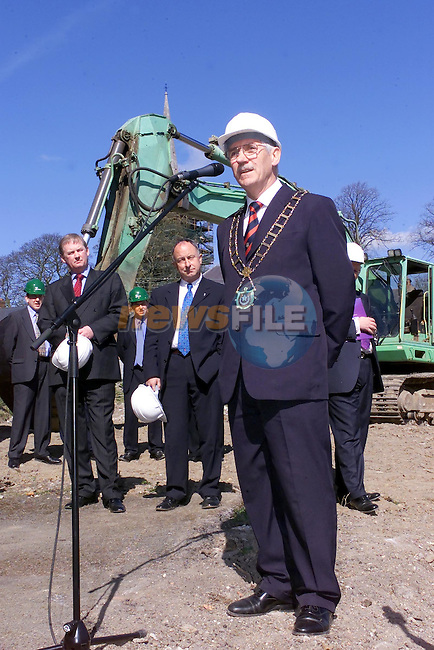 Mayor Jimmy Mulroy speaking at the launch of the New Town centre..Picture Fran Caffrey Newsfile...This Picture is sent to you by:..Newsfile Ltd.The View, Millmount Abbey, Drogheda, Co Louth, Ireland..Tel: +353419871240.Fax: +353419871260.GSM: +353862500958.ISDN: +353419871010.email: pictures@newsfile.ie.www.newsfile.ie
