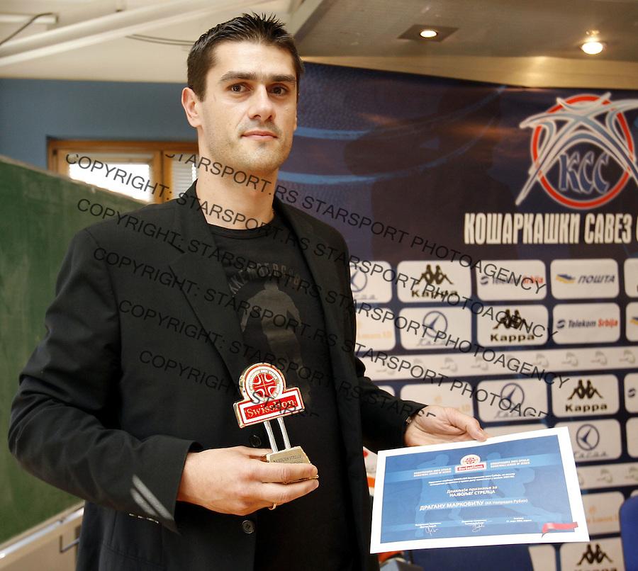 Kosarka, Swisslions liga.Uricenje nagrada.Dragan Markovic, najbolji strelac.Beograd, 31.03.2008..foto: Srdjan Stevanovic
