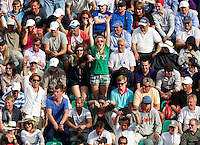 Fans celebrate during the match - Juan Carlos FERRERO (ESP) against Jo-Wilfred TSONGA (FRA) in the third round. Juan Carlos Ferrero beat Jo-Wilfred Tsonga 6-1 3-6 7-5..International Tennis - 2010 ATP World Tour - Masters 1000 - Monte-Carlo Rolex Masters - Monte-Carlo Country Club - Alpes-Maritimes - France..© AMN Images, Barry House, 20-22 Worple Road, London, SW19 4DH.Tel -  + 44 20 8947 0100.Fax - + 44 20 8947 0117