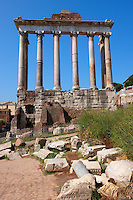 The Temple of Saturn, The forum, Rome