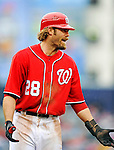 1 May 2011: Washington Nationals outfielder Jayson Werth makes a comment during a game against the San Francisco Giants at Nationals Park in Washington, District of Columbia. The Nationals defeated the Giants 5-2. Mandatory Credit: Ed Wolfstein Photo