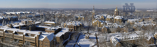 Winter panoramic of campus