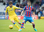 Inverness Caley Thistle v St Johnstone&hellip;27.08.16..  Tulloch Stadium  SPFL<br />Murray Davidson and Liam Polworth<br />Picture by Graeme Hart.<br />Copyright Perthshire Picture Agency<br />Tel: 01738 623350  Mobile: 07990 594431