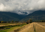 Clouds over the Selkirk Mountains in north Idaho