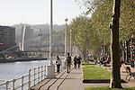 Volantin Walk, Nervion River - Estuary, Bilbao, Basque Country, Spain