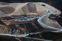 aerial photograph disposal site for material excavated from Devil's Slide tunnel construction California