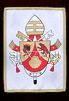 ..Coat of Arms.of His Holiness Benedict XVI..,Pope Benedict XVI leads his Angelus prayer at his summer residence in Castelgandolfo, south of Rome, 25 July 2010.