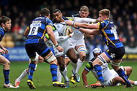Semesa Rokoduguni of Bath Rugby takes on the Worcester Warriors defence. Aviva Premiership match, between Worcester Warriors and Bath Rugby on February 13, 2016 at Sixways Stadium in Worcester, England. Photo by: Patrick Khachfe / Onside Images