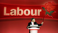 The Chancellor Gordon Brown During his speech at the Labour Party Conference in Brighton, Monday September 26, 2005, Photo By Credit Andrew Parsons/PA