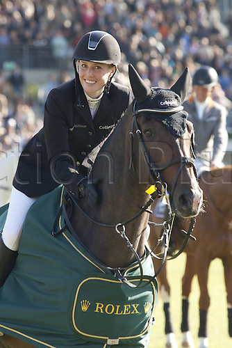 17 07 2011  Janne Friederike Meyer ger on Cell Agon Lambrasco during the Award Ceremony Rolex Grand Prix  from Aachen World Festival
