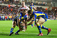 Picture by Alex Whitehead/SWpix.com - 16/03/2017 - Rugby League - Betfred Super League - Leigh Centurions v Warrington Wolves - Leigh Sports Village, Leigh, England - Warrington's Kurt Gidley and Jack Johnson.