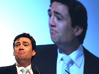 © Licensed to London News Pictures. 28/09/2011. LONDON, UK. Andy Burnham MP Shadow Secretary of State for Education addresses The Labour Party Conference in Liverpool today (28/09/11). Photo credit:  Stephen Simpson/LNP
