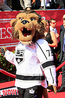 LOS ANGELES - JUL 11:  Bailey, LA Kings mascot arrives at the 2012 ESPY Awards at Nokia Theater at LA Live on July 11, 2012 in Los Angeles, CA