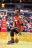 Dwyane Wade of the Heat dribbles the ball behind the back. Washington Wizards defeated the Miami Heat 105-101 at the Verizon Center in Washington, D.C. on Tuesday, December 4, 2012.   Alan P. Santos/DC Sports Box