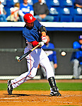 3 March 2009: Washington Nationals' shortstop Alex Cintron in action against Italy during a Spring Training exhibition game at Space Coast Stadium in Viera, Florida. The Nationals defeated Italy 9-6. Mandatory Photo Credit: Ed Wolfstein Photo