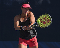 FLUSHING NY- AUGUST 30: Martina Hingis on the practice court at the USTA Billie Jean King National Tennis Center on August 30, 2016 in Flushing, Queens. Credit: mpi04/MediaPunch