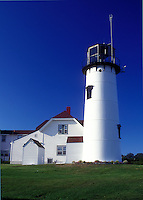 AJ1509, lighthouse, Cape Cod, Massachusetts, Chatham Light in Chatham along the Atlantic Coast, Massachusetts.
