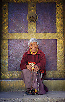 Samteden, 82 year old nun-at Kamsun Yuly Namgyal Monastery, 2008