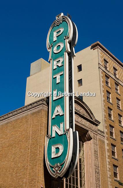 Sign at Schnitzer Concert Hall, Portland, OR