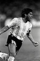 Pix:Michael Steele/SWpix...Soccer. Argentina's Diego Maradona...COPYRIGHT PICTURE>>SIMON WILKINSON..Argentina's Diego Maradona celebrates a goal.