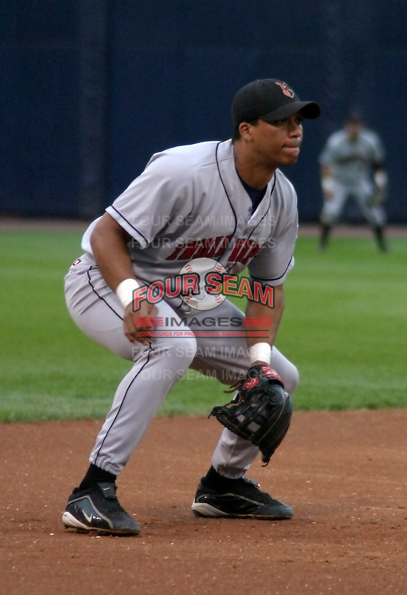 August 31, 2003:  Wilton Veras of the Indianapolis Indians, Class-AAA affiliate of the Milwaukee Brewers, during an International League game at Fifth Third Field in Toledo, OH.  Photo by:  Mike Janes/Four Seam Images