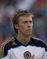 Philadelphia Union midfielder Brian Carroll (7). In a Major League Soccer (MLS) match, the Philadelphia Union defeated the New England Revolution, 3-0, at Gillette Stadium on July 17, 2011.