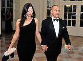 Joe Echevarria, Chief Executive Officer, Deloitte LLP, and AnnaMaria Echevarria arrive for the Official Dinner in honor of Prime Minister David Cameron of Great Britain and his wife, Samantha, at the White House in Washington, D.C. on Tuesday, March 14, 2012..Credit: Ron Sachs / CNP.(RESTRICTION: NO New York or New Jersey Newspapers or newspapers within a 75 mile radius of New York City)