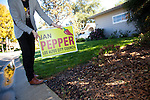 Many voters were amenable to placing yard signs in their lawns.