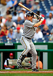 21 August 2009: Milwaukee Brewers' infielder Craig Counsell at bat against the Washington Nationals, at Nationals Park in Washington, DC. The Brewers defeated the Nationals 7-3 in the first game of their four-game series. Mandatory Credit: Ed Wolfstein Photo
