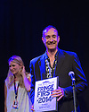 Edinburgh, UK. 08.08.2014.  The first batch of the Scotsman's Fringe First Awards are presented by Simon Callow in a ceremony at the Assembly Rooms. The award winners are: &quot;Cuckooed&quot; by Mark Thomas, produced by Lakin McCarthy in association with Traverse Theatre Company; &quot;Chef&quot; by Sabrina Mahfouz, starring Jade Anouka at Underbelly, Cowgate:<br /> &quot;The Collector&quot; by Henry Naylor at Gilded Balloon;<br /> &quot;Confirmation&quot; by Chris Thorpe and Rachel Chavkin - Northern Stage at King's Hall;<br /> &quot;Men in the Cities&quot; by Chris Goode and Company in association with Royal Court Theatre at the Traverse Theatre;<br /> &quot;Spoiling&quot; by John McCann, produced by Traverse Theatre Company at Traverse Theatre. Picture shows: Writer, Henry Naylor. Photograph &copy; Jane Hobson.