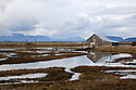 WA07380-00...WASHINGTON - Barn in the Padilla Bay National Estuarine Reserve.