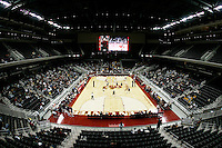 13 October 2006:  Wide Angle interior overview of the Galen Center. USC Trojans Women's Volleyball team plays their second home game in a new facility across the street from their school. The Galen Center is the new home for USC Volleyball, Basketball, Concerts and Special Events.<br />