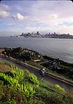 Hikers on Alcatraz Island