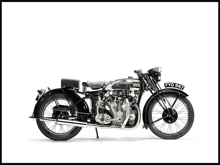BNPS.co.uk (01202 558833)<br /> Pic: Bonhams/BNPS<br /> <br /> The 1939 Vincent - HRD 998cc Series - A Rapid.<br /> <br /> Quater of a million paid for &pound;10 Vincent rescued from a skip. <br /> <br /> A super-rare classic motorbike once bought for &pound;10 and saved from the skip twice by its loving owner has sold for an astonishing &pound;276,000.<br /> <br /> Motorbike fan Harry Lloyd first prevented the 1939 Vincent Rapide HRD from being scrapped in 1959 when he heard it was destined for the breaker's yard and bought it for &pound;10.<br /> <br /> He did it again 20 years later when the council lock-up it was being stored in was emptied and the contents scrapped.<br /> <br /> After a painstaking seven-year restoration it is back to its former glory and sold yesterday at Bonhams for &pound;275,900.
