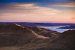 Sunset along the Missouri River in the Missouri River Breaks above Fort Peck Reservoir in Montana