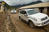 Rock falls and broken roads in Yunnan province.