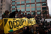 New York, New York<br /> November 15, 2011<br /> <br /> After the police clear Zuccotti Park many of the evicted &quot;Occupy Wall Street&quot; protesters, march to Juan Pablo Duarte Square at Canal and 6th Ave and final back to Zuccotti Park to wait a court order to reenter the park.