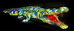 Saltwater Crocodile lantern during the Vivid 2016 Sydney Festival at Taronga Zoo, Sydney Australia.