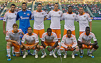 CARSON, CA – July 23, 2011: Houston Dynamo starting lineup for the match between Chivas USA and Houston Dynamo at the Home Depot Center in Carson, California. Final score Chivas USA 3, Houston Dynamo 0.