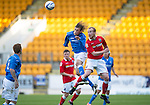 St Johnstone v Ross County....SPFL Development League...19.08.14<br /> Murray Davidson and Liam Boyce<br /> Picture by Graeme Hart.<br /> Copyright Perthshire Picture Agency<br /> Tel: 01738 623350  Mobile: 07990 594431