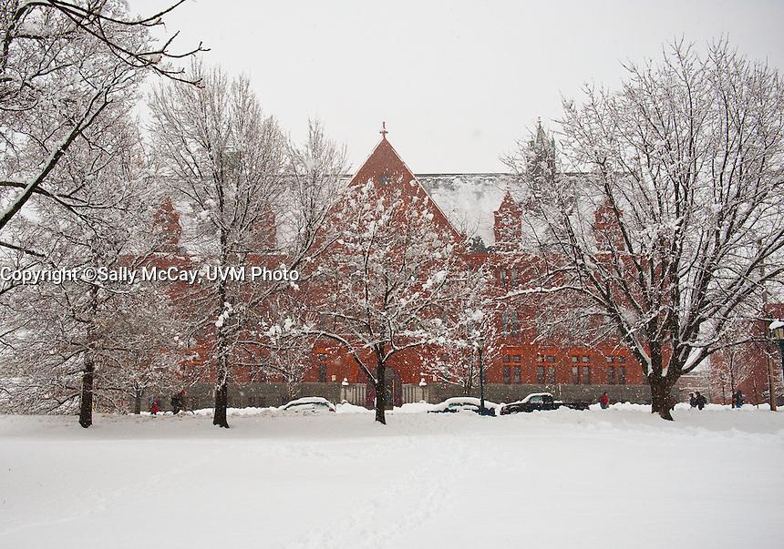 Williams Building, Winter UVM Campus