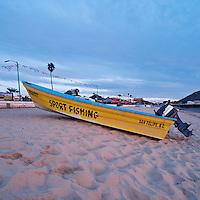 Fishing boat on beach, San Felipe, Baja California, Mexico