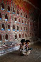 Shweyanpyay teak wood Monastery and pagoda Inle lake, Shan State, Myanmar/Burma