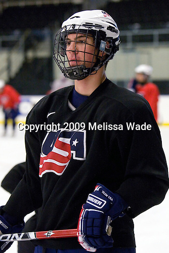 Adam Clendening (US - 8) - The US practiced the morning of Sunday, April 19, 2009, prior to their gold medal game against Russia in the 2009 World Under 18 Championship at the Urban Plains Center in Fargo, North Dakota.