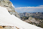 Snow remains at the summit of El Capitan Peak in August. The second highest peak in the Bitterroot Range in Montana