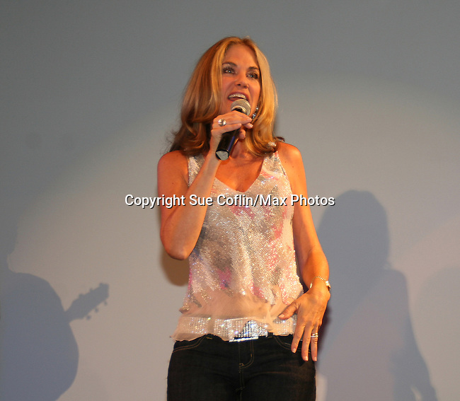 OLTL's Kassie DePaiva singing at The Premiere of the Divas of Daytime TV Tour at New York City's Canal Room, New York on August 16, 2008. Performing are OLTL's Kathy Brier, Kassie DePaiva and AMC's Bobbie Eakes with AMC's Ricky Paull Goldin as MC. (Photo by Sue Coflin/Max Photos)