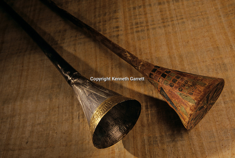 Silver Trumpet and wooden core, KV 62, Tutankhamun and the Golden Age of the Pharaohs, Page 193 top
