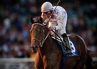 Ron The Greek, with Jose Lezcano aboard wins the 2012 Santa Anita Handicap at Santa Anita Park in Arcadia California on March 03, 2012.