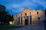 The Alamo, symbol of Texans spirit and determination, is dwarfed by the buildings of downtown San Antonio.  The building that began life in 1744,  today is a major tourist attraction  administered by the Daughters of the Texas Revolution..