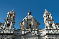 Sant'Agnese in Agone located in the Piazza Navona, Rome, Italy